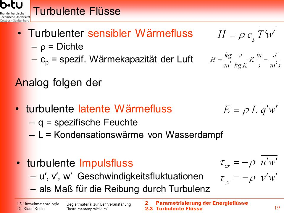 Turbulenter sensibler Wärmefluss