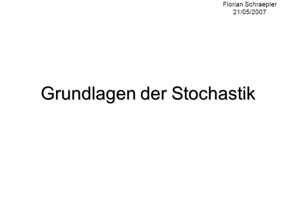 Grundlagen der Stochastik