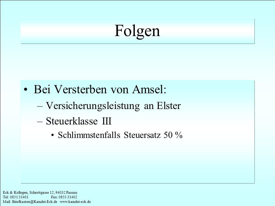 Folgen Bei Versterben von Amsel: Versicherungsleistung an Elster