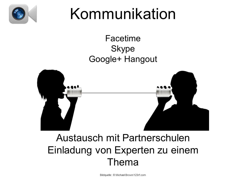 Kommunikation Austausch mit Partnerschulen