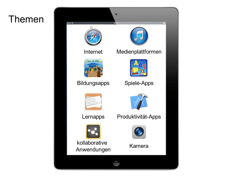 Themen Internet Medienplattformen Bildungsapps Spiele-Apps Lernapps