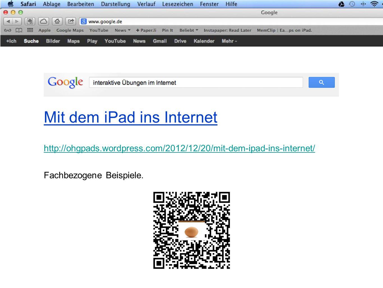 Mit dem iPad ins Internet