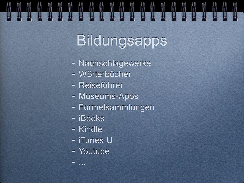 Bildungsapps Nachschlagewerke Wörterbücher Reiseführer Museums-Apps