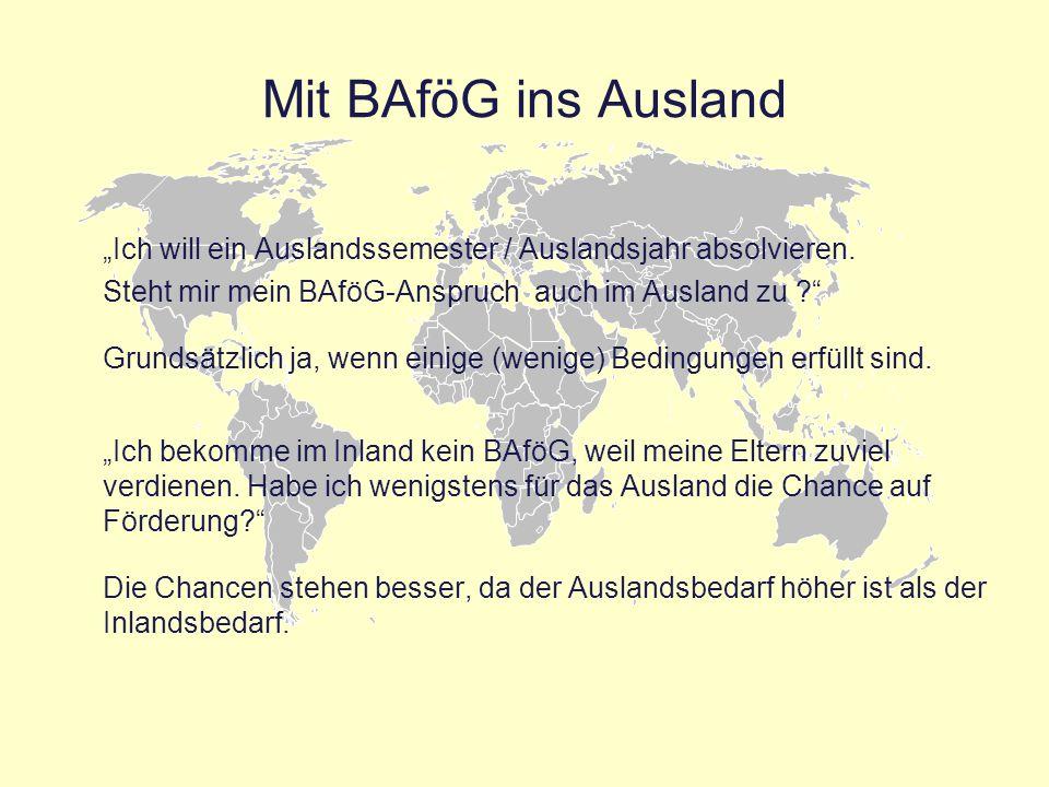 """Mit BAföG ins Ausland """"Ich will ein Auslandssemester / Auslandsjahr absolvieren. Steht mir mein BAföG-Anspruch auch im Ausland zu"""