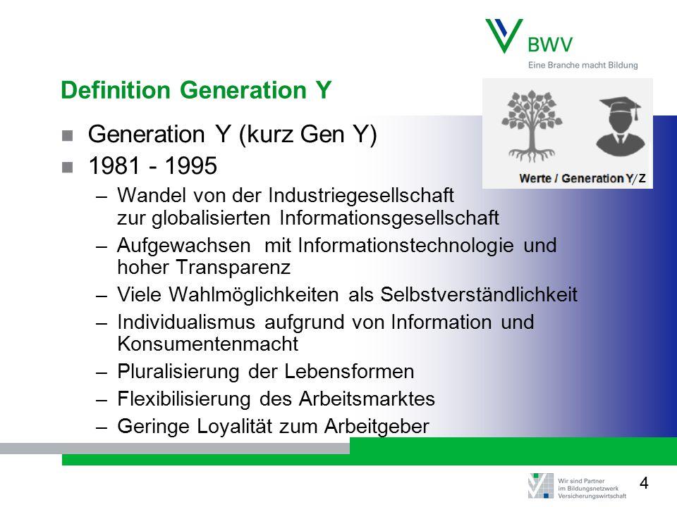 Definition Generation Y
