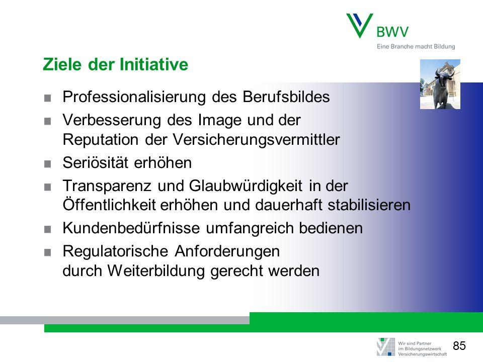 Ziele der Initiative Professionalisierung des Berufsbildes