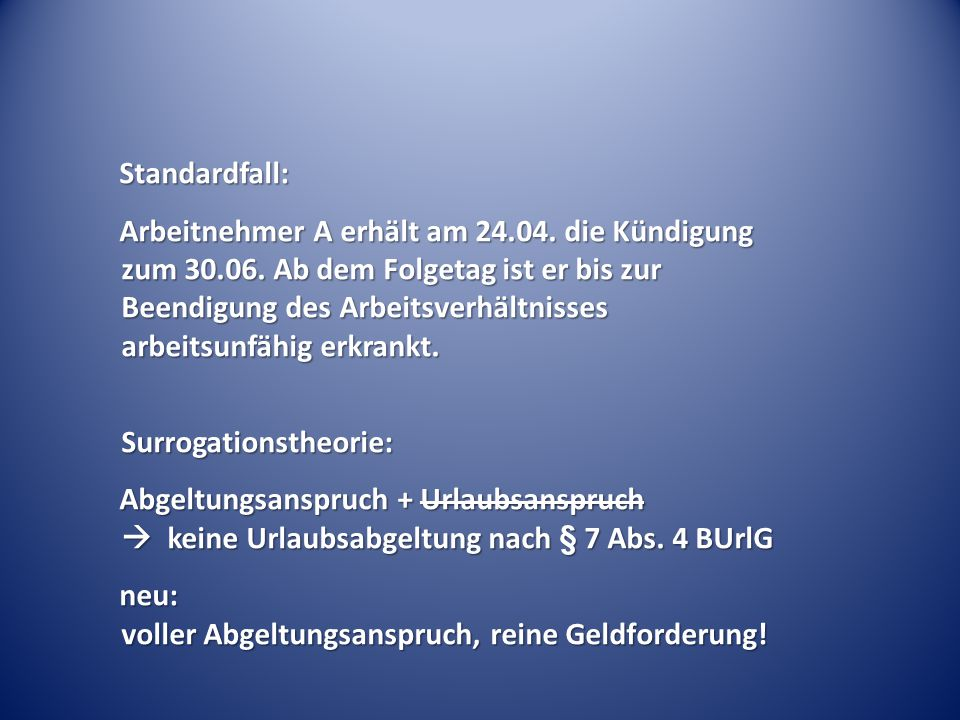 Standardfall: