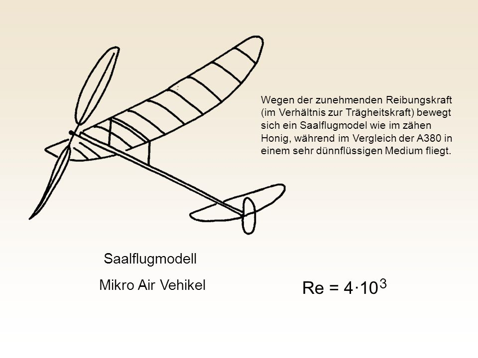 Re = 4 ·10 3 Saalflugmodell Mikro Air Vehikel