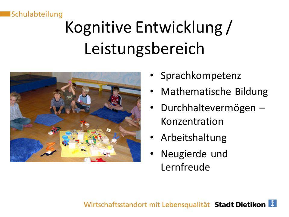 Kognitive Entwicklung / Leistungsbereich