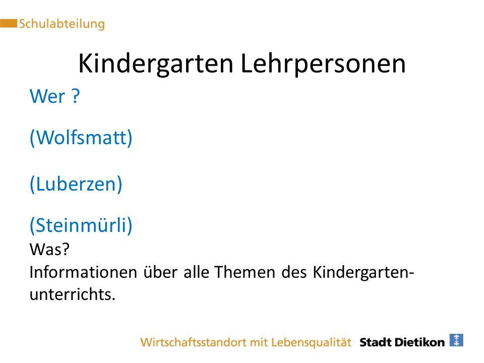 Kindergarten Lehrpersonen