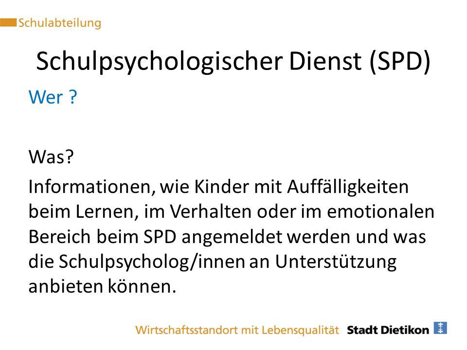 Schulpsychologischer Dienst (SPD)