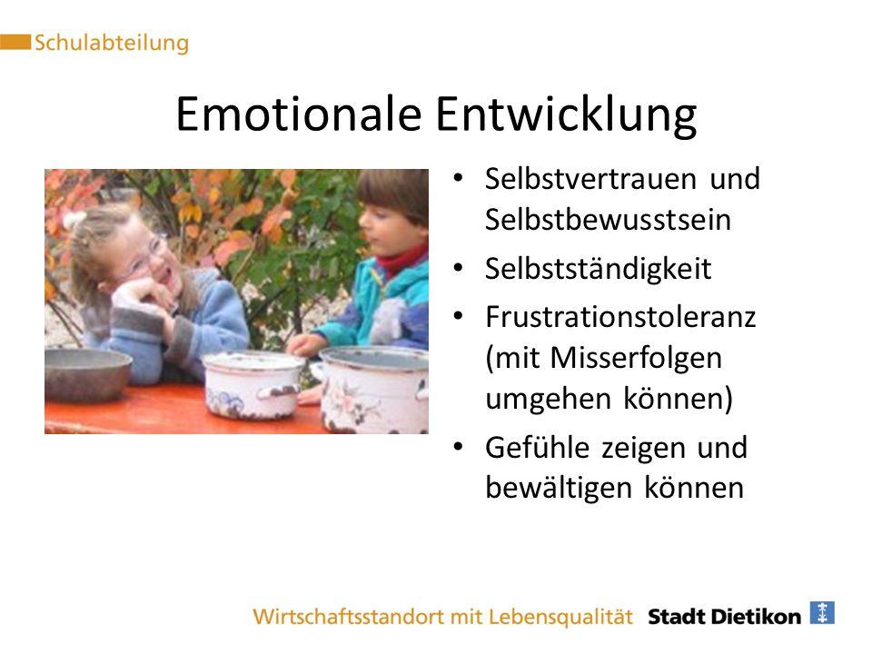 Emotionale Entwicklung