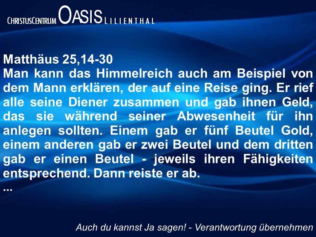 Matthäus 25,14-30