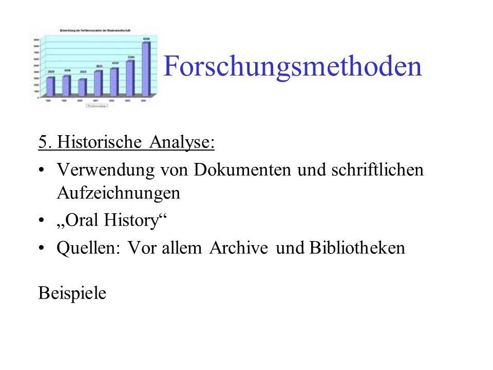 Forschungsmethoden 5. Historische Analyse: