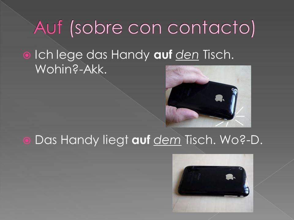 Auf (sobre con contacto)