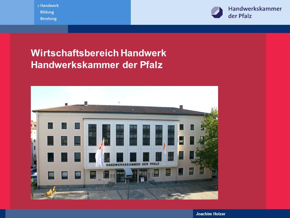 Wirtschaftsbereich Handwerk Handwerkskammer der Pfalz