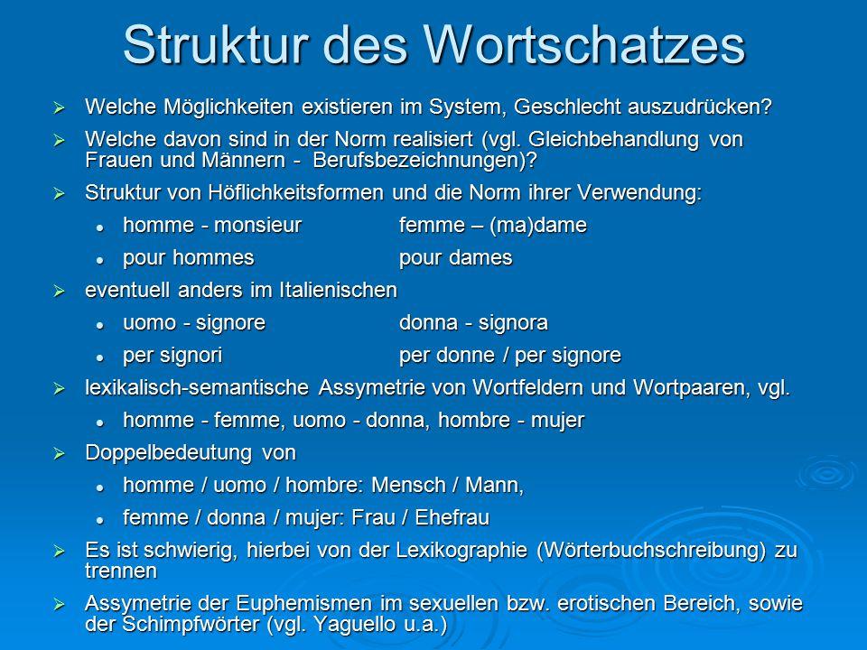 Struktur des Wortschatzes