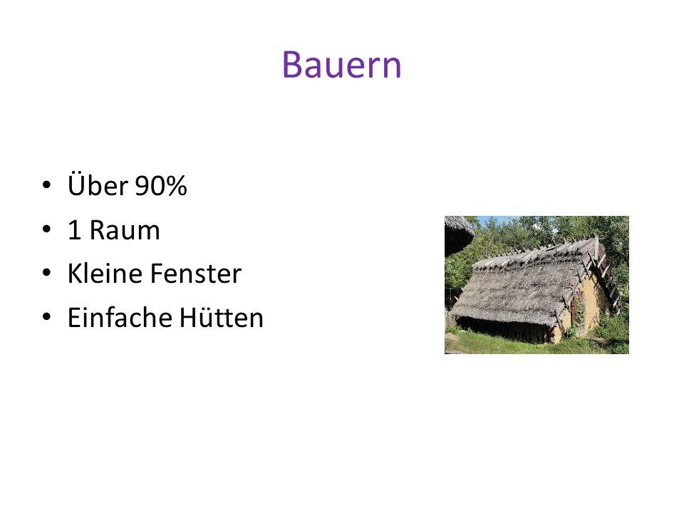 Bauern Über 90% 1 Raum Kleine Fenster Einfache Hütten
