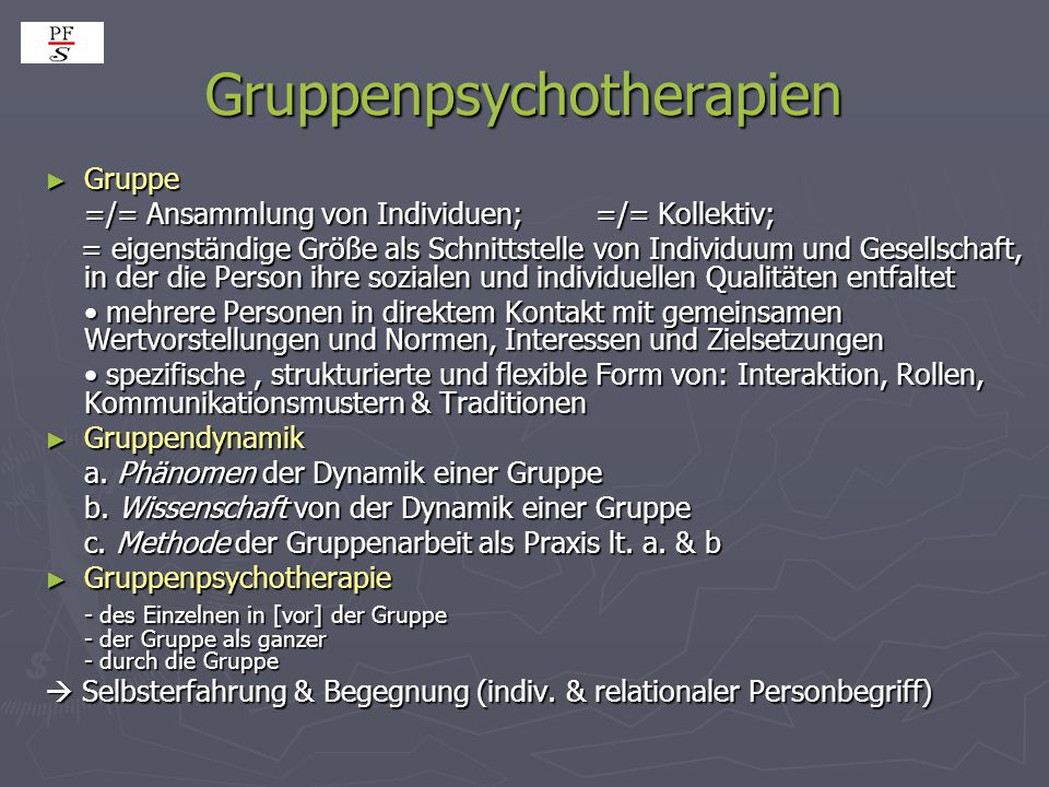 Gruppenpsychotherapien