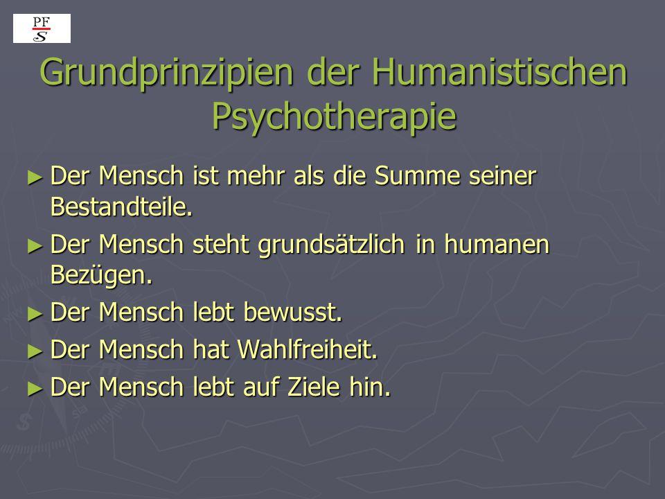 Grundprinzipien der Humanistischen Psychotherapie