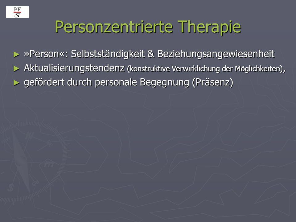 Personzentrierte Therapie