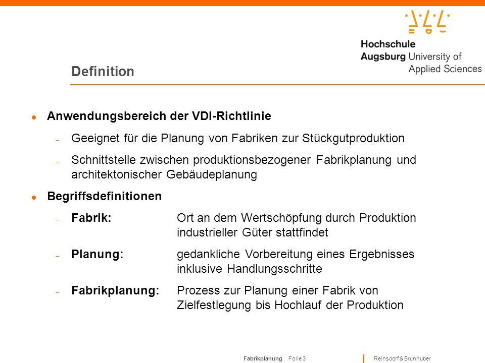 Definition Anwendungsbereich der VDI-Richtlinie
