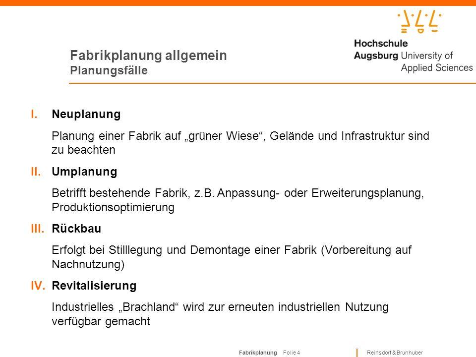 Fabrikplanung allgemein Planungsfälle
