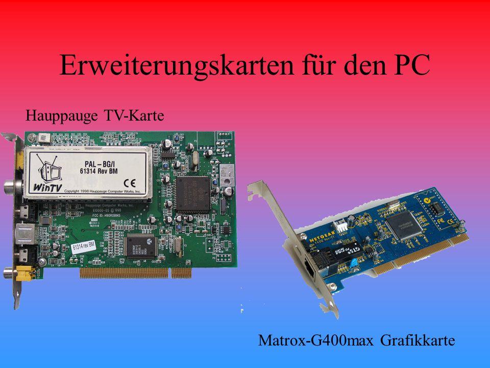 Erweiterungskarten für den PC