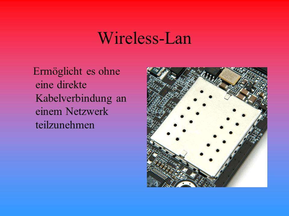 Wireless-Lan Ermöglicht es ohne eine direkte Kabelverbindung an einem Netzwerk teilzunehmen