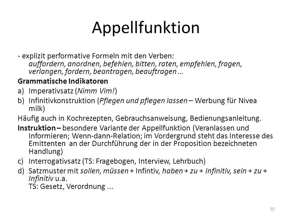 Appellfunktion