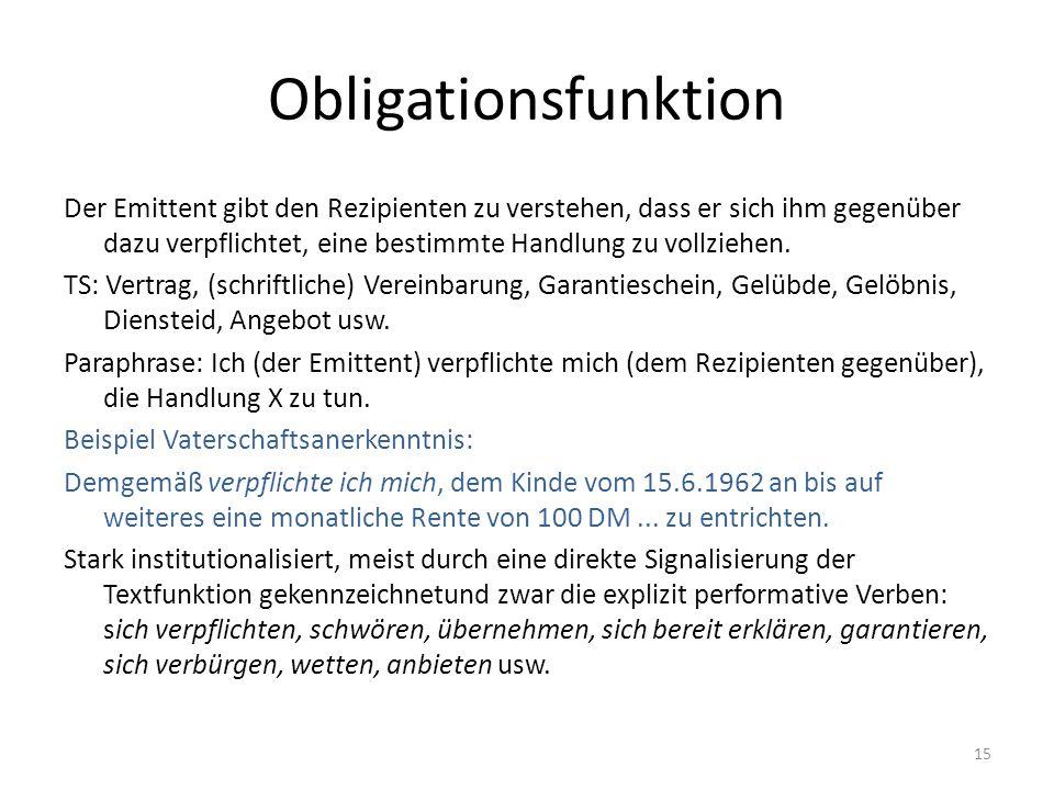Obligationsfunktion
