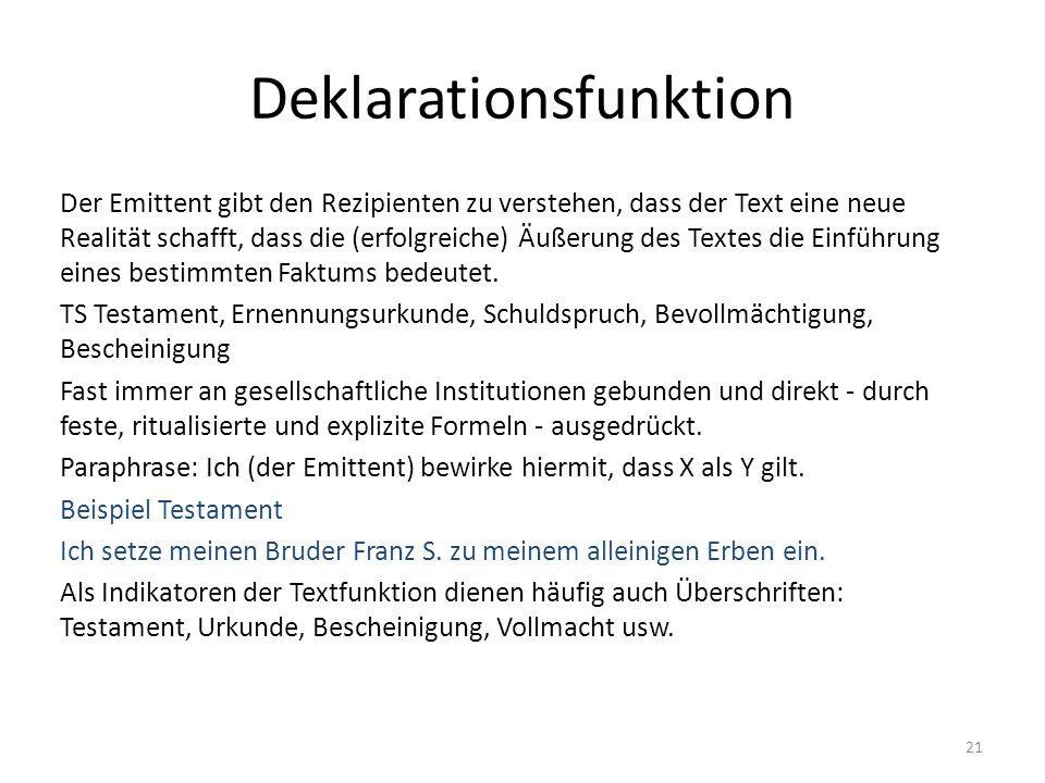 Deklarationsfunktion
