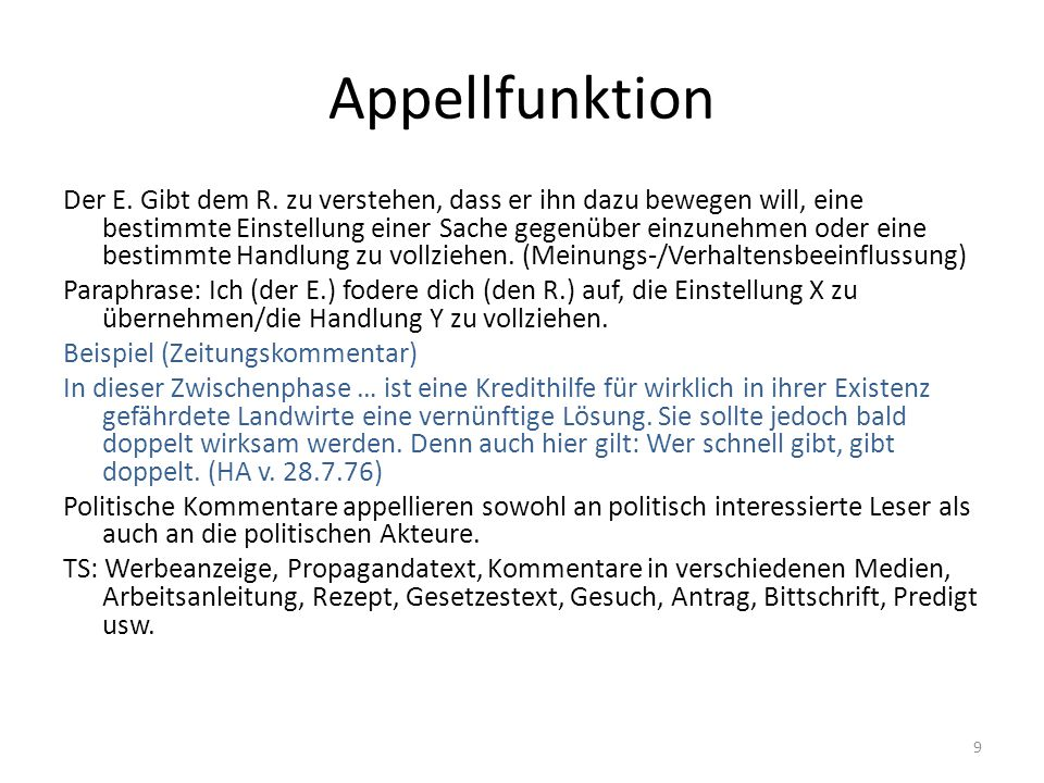 Appellfunktion