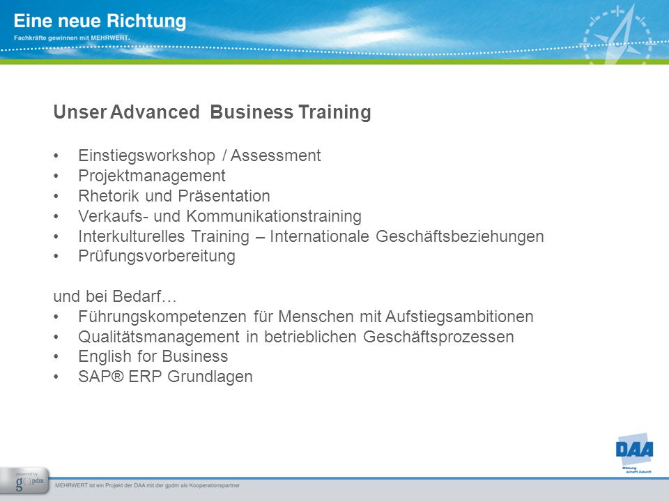 Unser Advanced Business Training