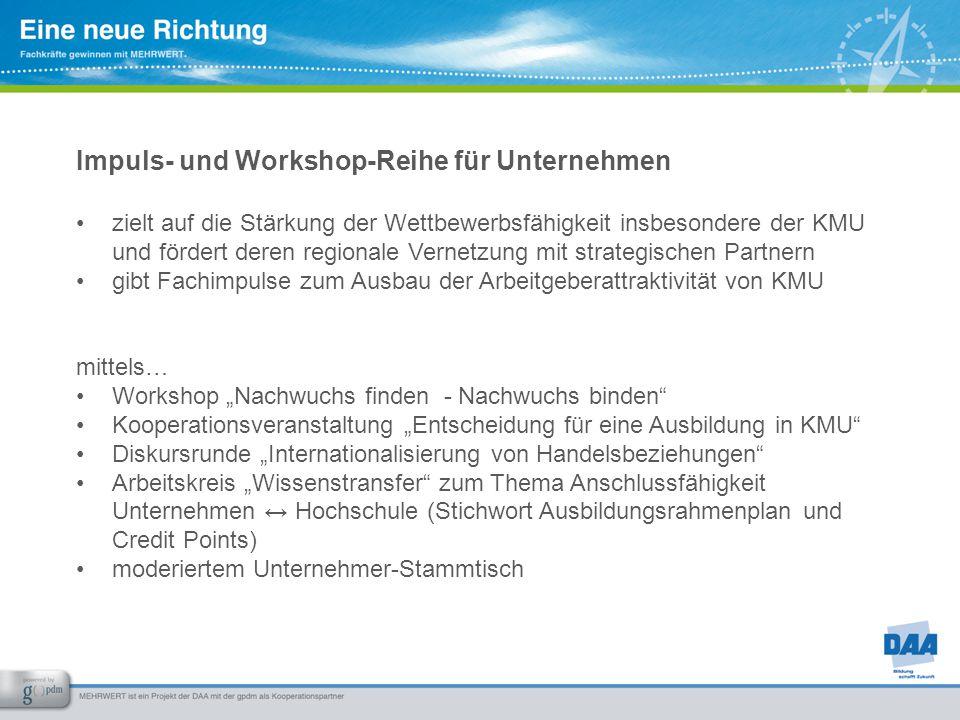 Impuls- und Workshop-Reihe für Unternehmen