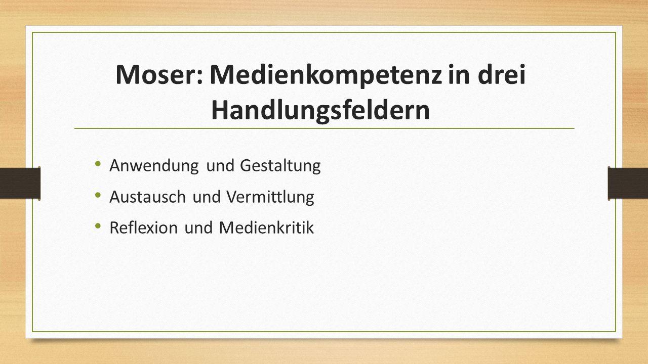 Moser: Medienkompetenz in drei Handlungsfeldern