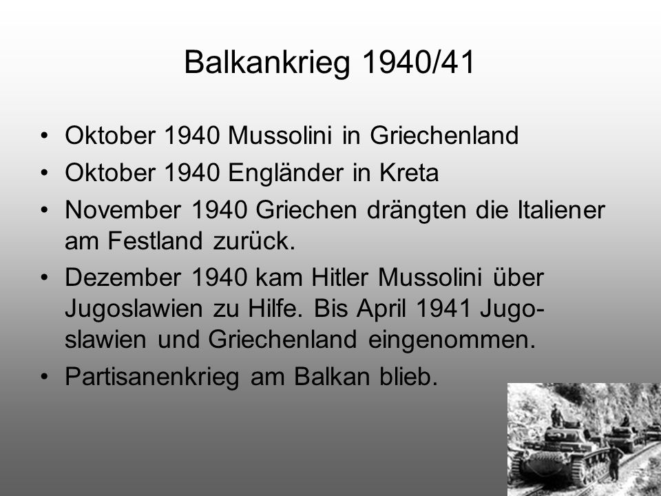 Balkankrieg 1940/41 Oktober 1940 Mussolini in Griechenland