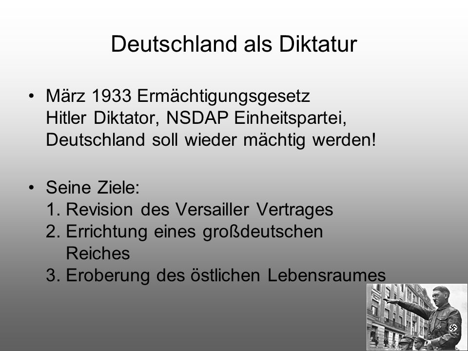 Deutschland als Diktatur
