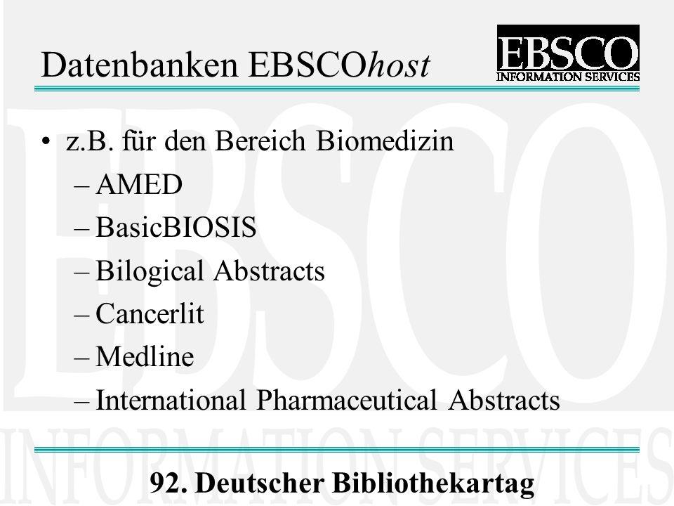 Datenbanken EBSCOhost