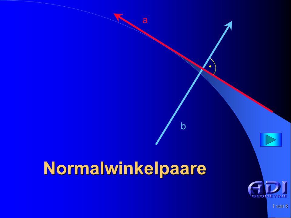 a b Normalwinkelpaare