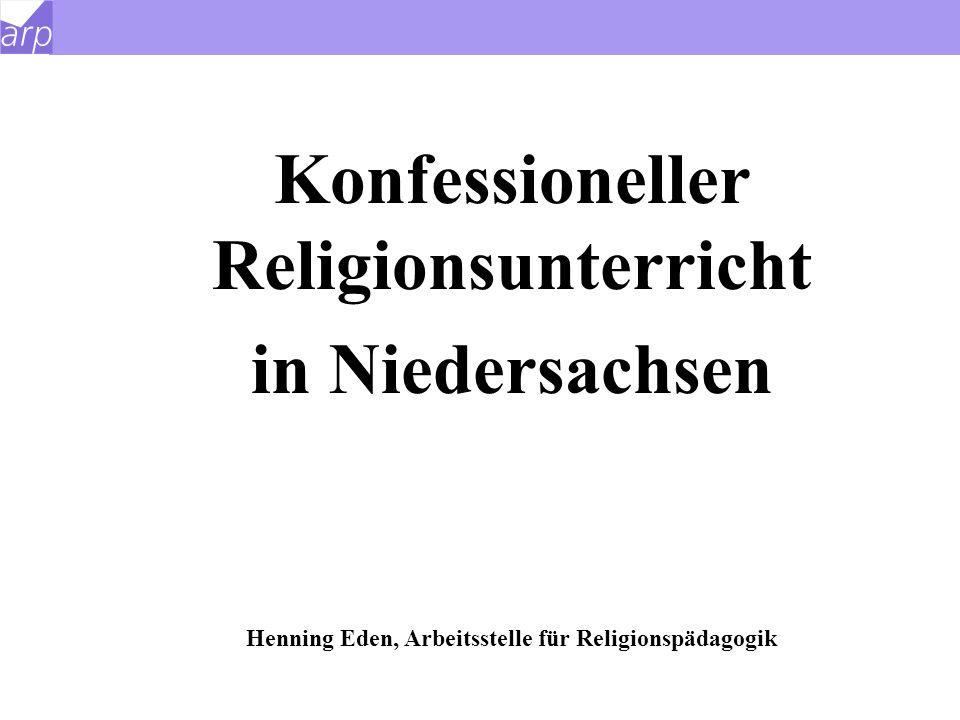 Konfessioneller Religionsunterricht in Niedersachsen