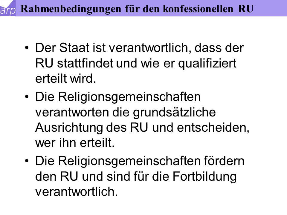 Rahmenbedingungen für den konfessionellen RU