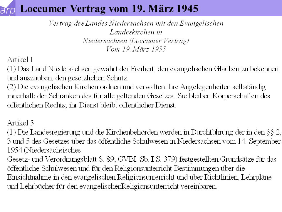 Loccumer Vertrag vom 19. März 1945
