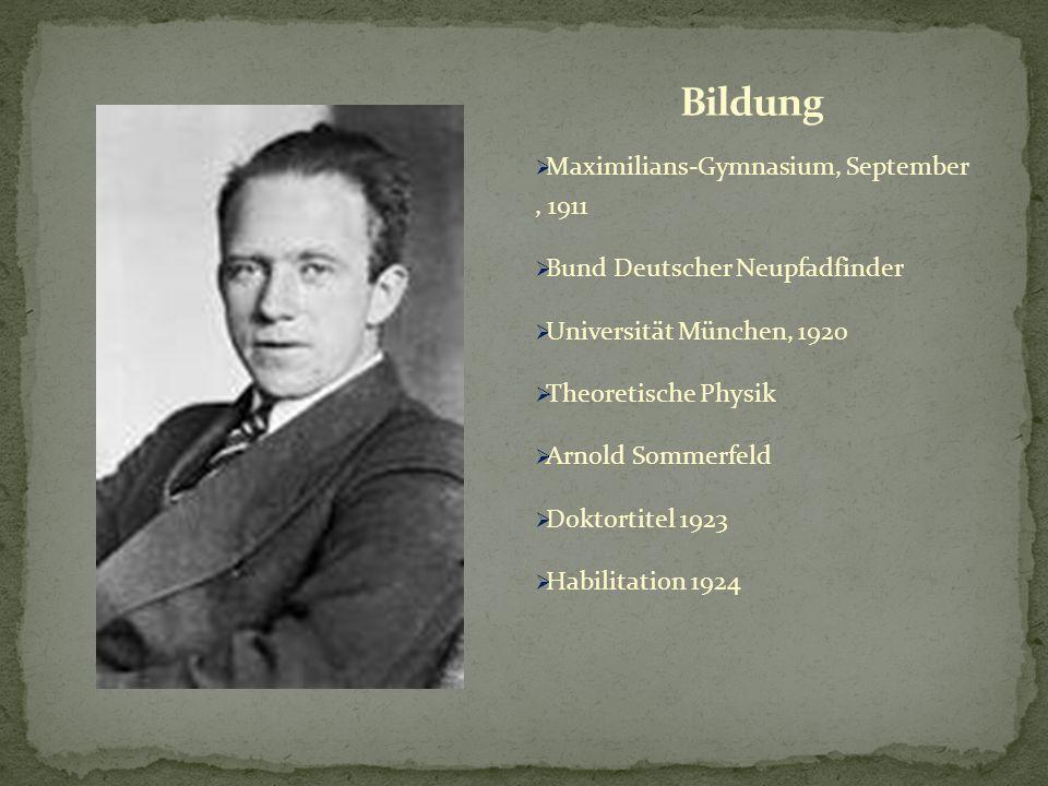Bildung Maximilians-Gymnasium, September , 1911