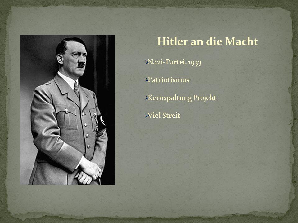 Hitler an die Macht Nazi-Partei, 1933 Patriotismus