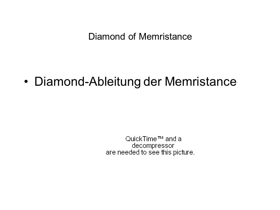 Diamond of Memristance