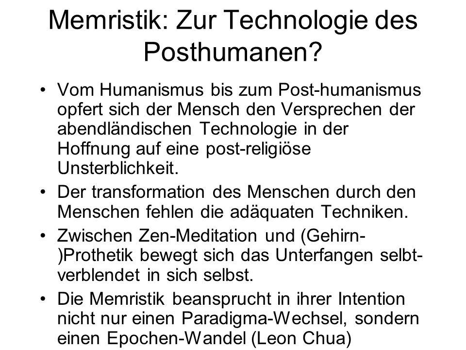 Memristik: Zur Technologie des Posthumanen