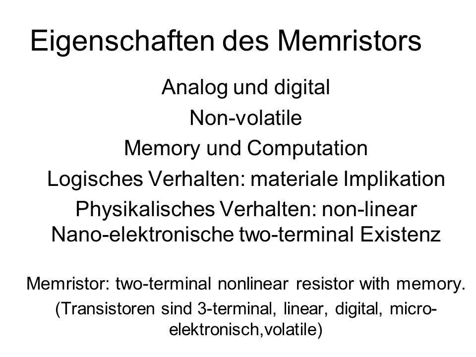 Eigenschaften des Memristors