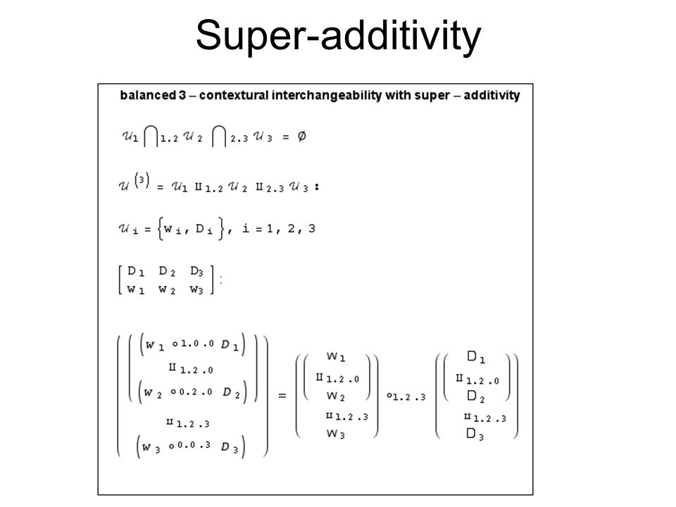 Super-additivity