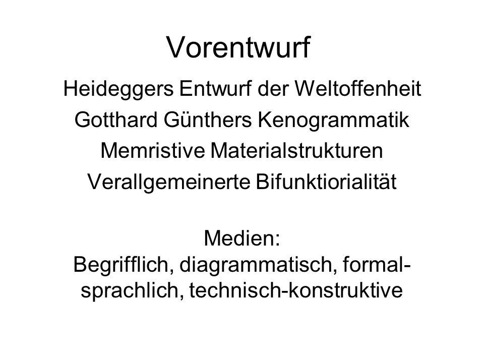 Vorentwurf Heideggers Entwurf der Weltoffenheit